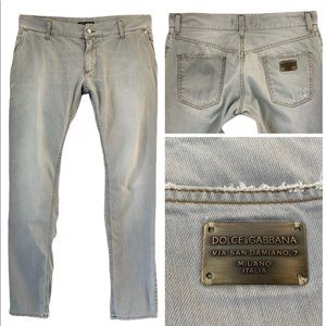 Dolce & Gabbana Jeans - DOLCE & GABBANA GRAY STRAIGHT SLIM LEG DENIM JEANS